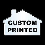 "1.875"" x 2.875"" House Shape Clear Custom Printed Stickers"