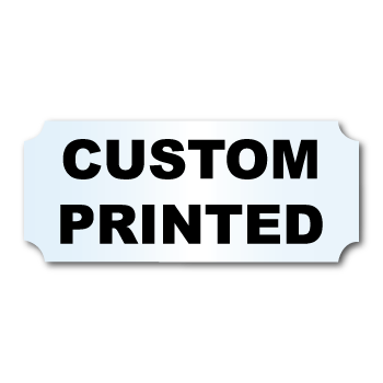 """1.25"""" x 3"""" Indented Rectangle Shape Clear Custom Printed Stickers"""