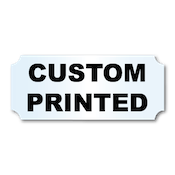 "1.25"" x 3"" Indented Rectangle Shape Clear Custom Printed Stickers"