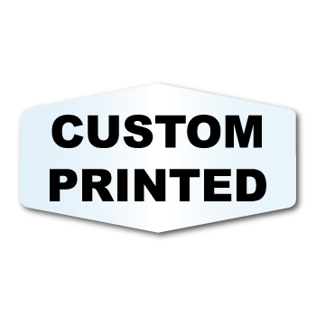 "1.875"" x 3.4687"" Marquis Shape Clear Custom Printed Stickers"