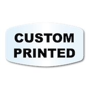 "1.125"" x 2"" Modified Oval Shape Clear Custom Printed Stickers"
