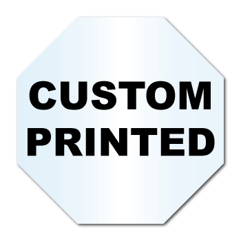 "2"" x 2"" Octagon Shape Clear Custom Printed Stickers"