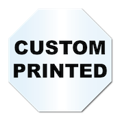 "3"" x 3"" Octagon Shape Clear Custom Printed Stickers"