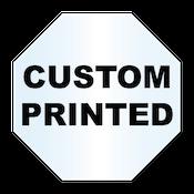 "3"" x 3"" Octagon Shape Clear Custom Printed Stickers"
