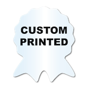 "1.625"" x 2"" Ribbon Shape Clear Custom Printed Stickers"
