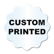 """1.75"""" Scalloped Circle Shape Clear Custom Printed Stickers"""
