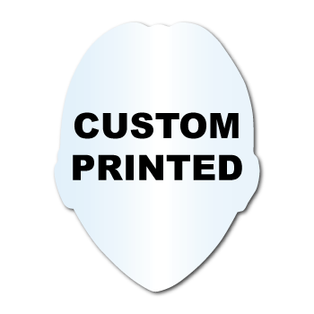 "2.5"" x 3.25"" Sheriff Badge Shape Clear Custom Printed Stickers"