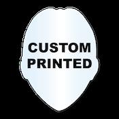 "2.5"" x 3.25"" Sheriff Badge Shape Clear Custom Printed Stickers"