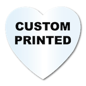 "1.125"" x 1.125"" Heart Shape Clear Custom Printed Stickers"