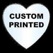 "1.125"" x 1.125"" Heart Shape Clear Custom Printed Stickers"