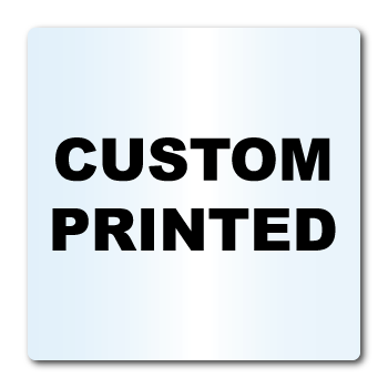 "3.5"" x 3.5"" Round Corners Square Clear Custom Printed Stickers"