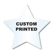 "2.75"" x 2.875"" Star Shape Clear Custom Printed Stickers"