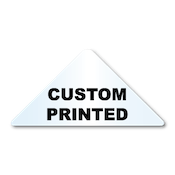 "1.25"" x 2.5"" Triangle Shape Clear Custom Printed Stickers"