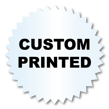 1.25 Inch Burst Circle Clear Custom Printed Stickers