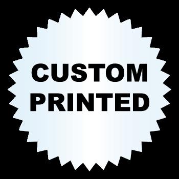 1.25 Inch Burst Circle Clear Custom Printed Stickers