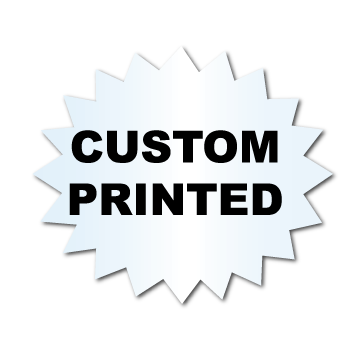 "1"" x 1.25"" Starburst Clear Custom Printed Stickers"