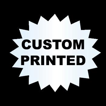 "1"" x 1.25"" Starburst Clear Custom Printed Stickers"