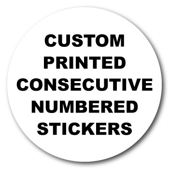 2 Dia. Circle Custom Consecutive Numbered Stickers