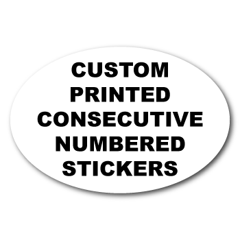 4 x 6 Oval Custom Consecutive Numbered Stickers