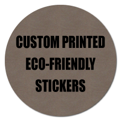 "1"" Circle Eco-Friendly Stickers"