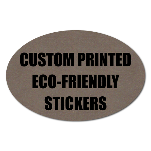 "2"" x 1"" Oval Eco-Friendly Stickers"