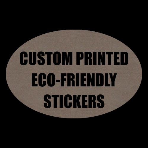 """2"""" x 1"""" Oval Eco-Friendly Stickers"""