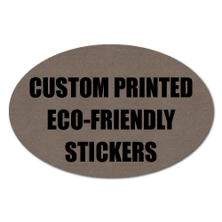 "2"" x 3"" Oval Eco-Friendly Stickers"