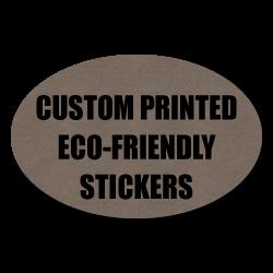 """2"""" x 4"""" Oval Eco-Friendly Stickers"""