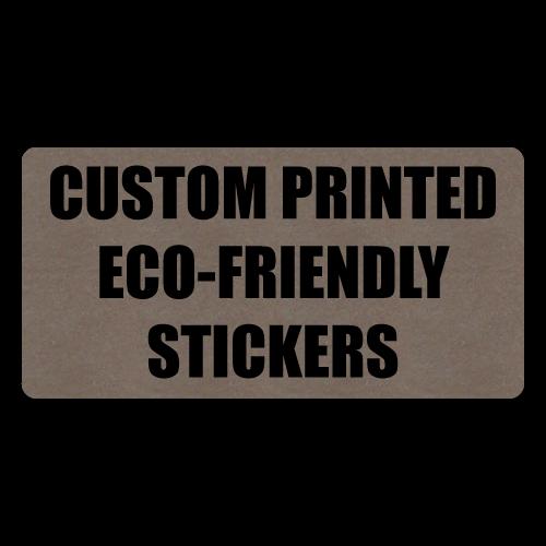 "2"" x 1"" Round Corner Rectangle Eco-Friendly Stickers"