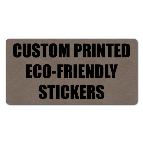 "2"" x 1"" Round Corner Rectangle Eco-Friendly Stickers"