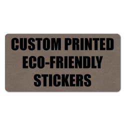 "4"" x 1"" Round Corner Rectangle Eco-Friendly Stickers"
