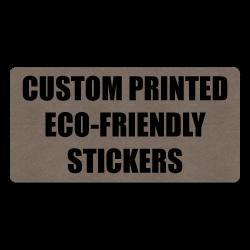 "4"" x 1"" Round Corner Rectangle Eco-Friendly Stickers"