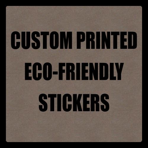 "1"" x 1"" Round Corner Square Eco-Friendly Stickers"