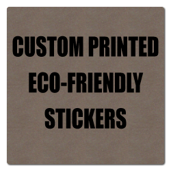 "2"" x 2"" Round Corner Square Eco-Friendly Stickers"