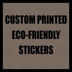 "2"" x 2"" Round Corner Square Eco-Friendly Stickers"
