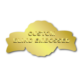 """1.375"""" x 2.625"""" Anniversary Special Shape Custom Blind Embossed Stickers"""