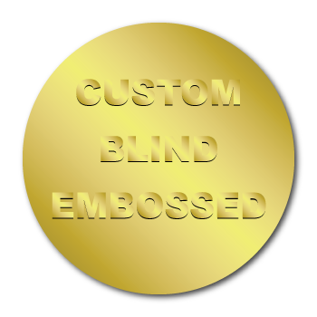 "0.75"" Circle Custom Blind Embossed Stickers"