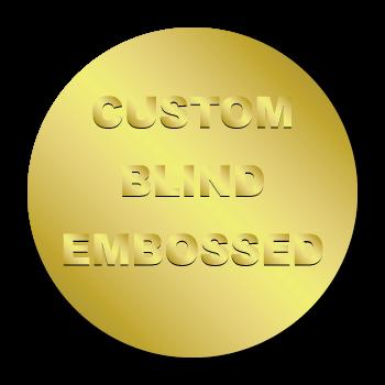 "2.5"" Circle Custom Blind Embossed Stickers"