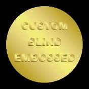 "0.75"" Circle Custom Blind Embossed Stickers"