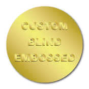 "1"" Circle Custom Blind Embossed Stickers"