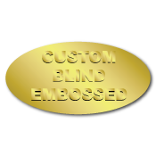 "1.5"" x 2"" Ovals Custom Blind Embossed Stickers"