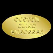 "1"" x 2"" Oval Custom Blind Embossed Stickers"
