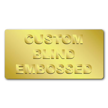 "0.5"" x 1"" Round Corners Rectangle Custom Blind Embossed Stickers"