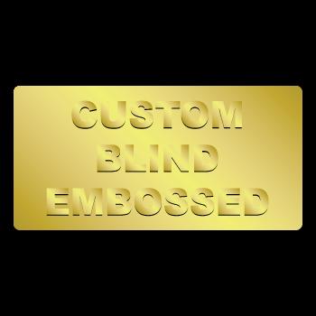 "0.5"" x 1"" Round Corners Rectangle Custom Blind Embossed Stickers"