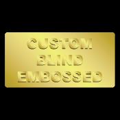 "0.75"" x 2"" Round Corners Rectangle Custom Blind Embossed Stickers"