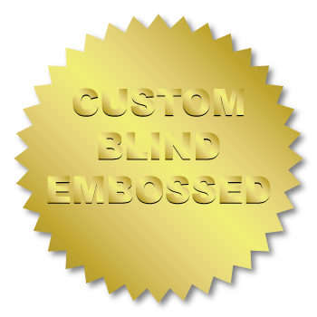 2 Inch Burst Circle Custom Blind Embossed Stickers