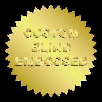 2 Inch Burst Circle Custom Blind Embossed Stickers