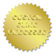 2.25 Inch Burst Circle Custom Blind Embossed Stickers