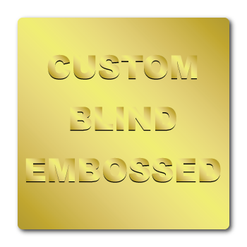"1"" x 1"" Round Corners Square Custom Blind Embossed Stickers"