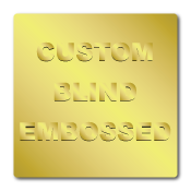 "2"" x 2"" Round Corners Square Custom Blind Embossed Stickers"